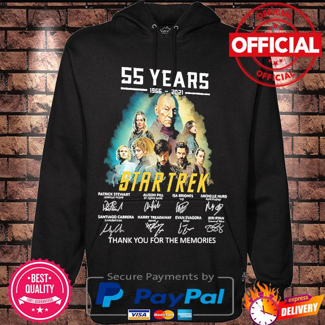 %5 years of Star Trek thank you for the memories signatures s Hoodie black