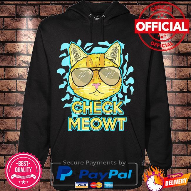 Cat pun humor cool kitten love check meowt s Hoodie black