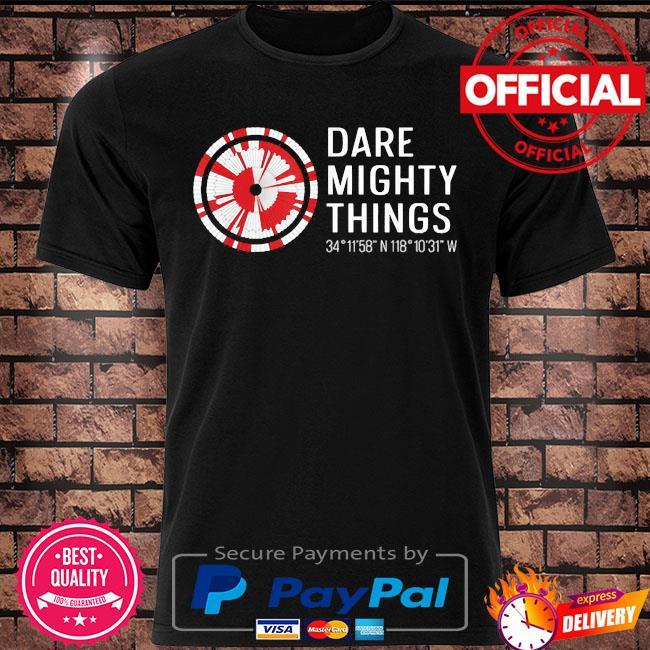 Dare mighty things perseverance mars rover hidden code shirt