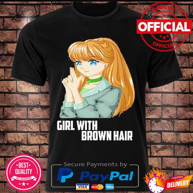 Girl with brown hair shirt