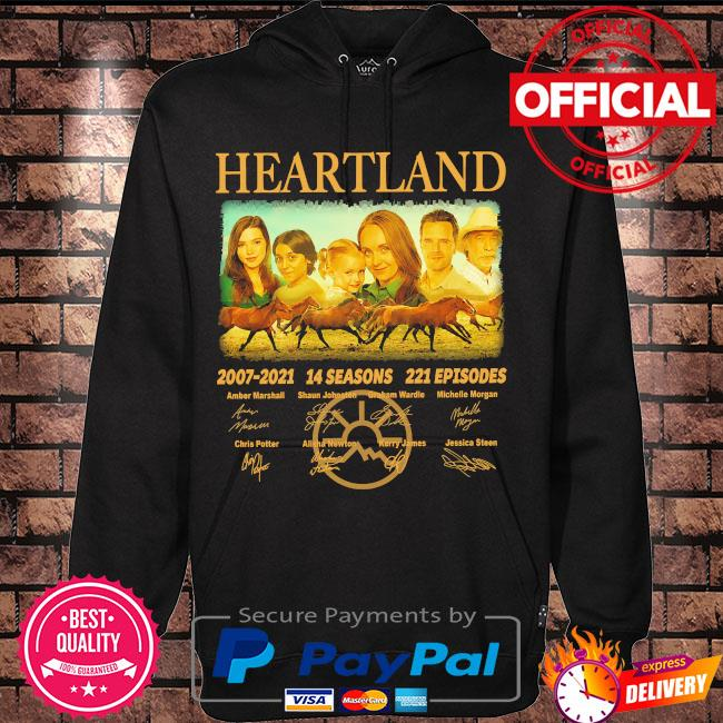 Heartland 2007 2021 14 seasons 221 episodes signatures s Hoodie black