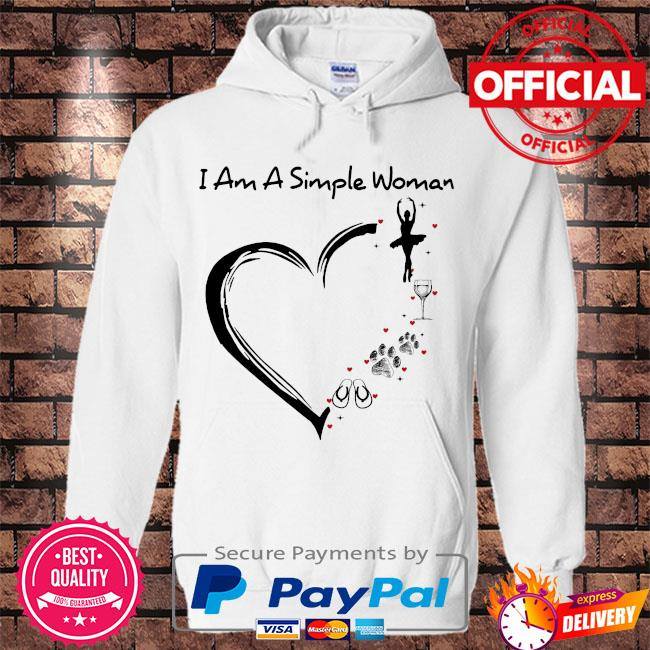 i am a simple woman flip flop dog paw wine s Hoodie white