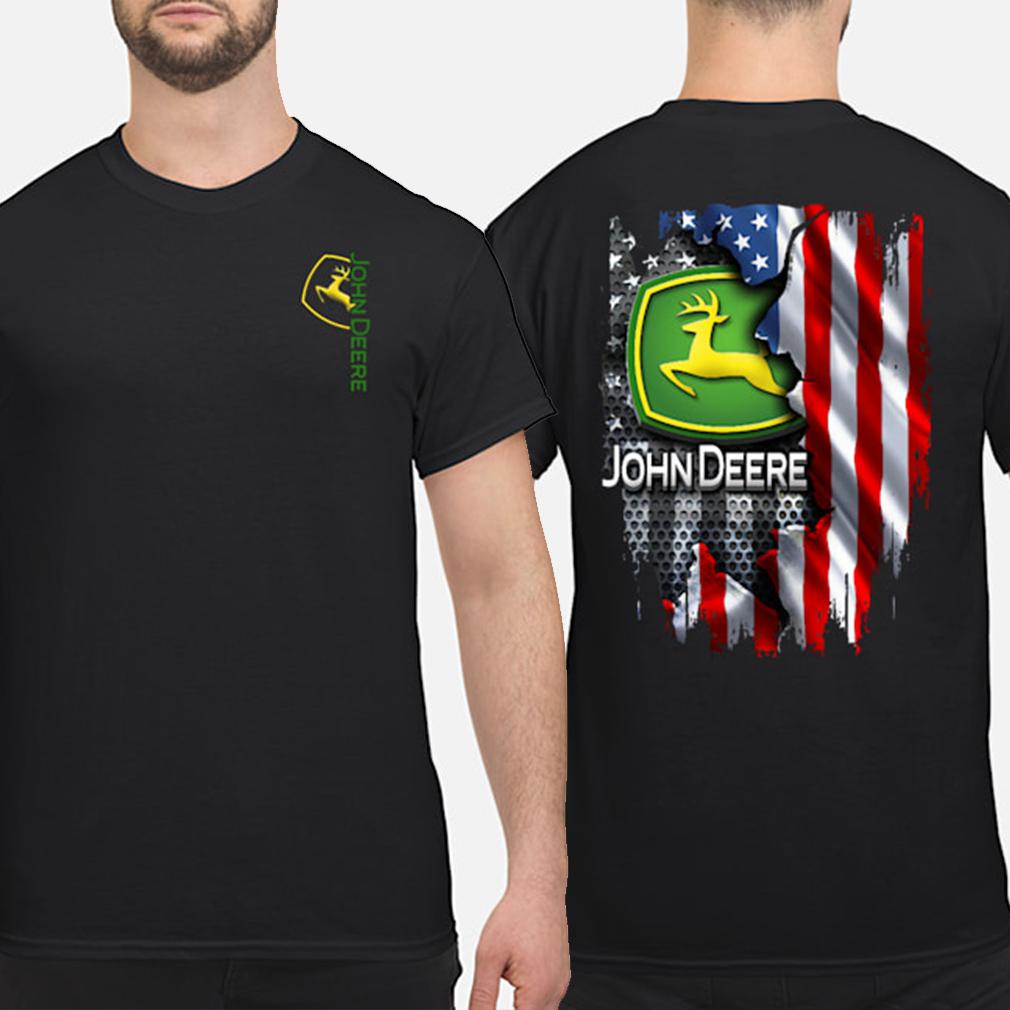 John Deere American flag shirt
