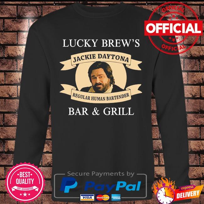 Lucky brew's bar and grill regular human bartender s Long sleeve black