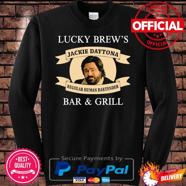 Lucky brew's bar and grill regular human bartender s Sweater black