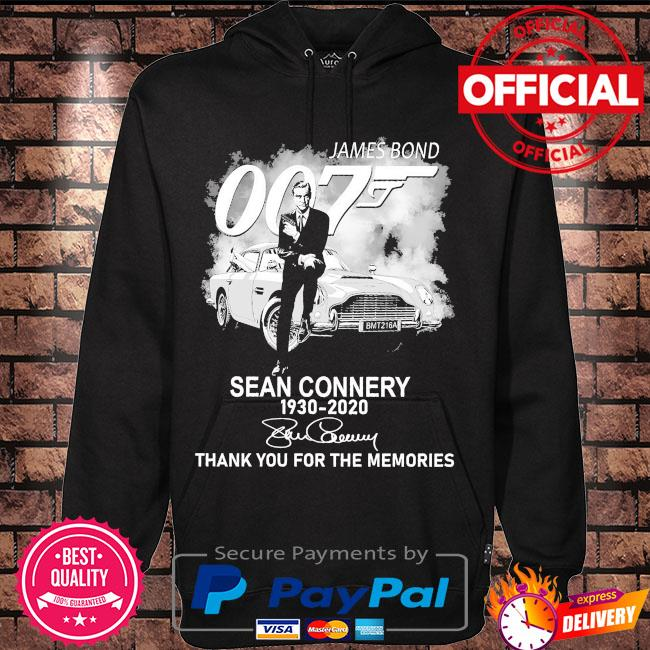 James Bond 007 sean connery thank you for the memories signature s Hoodie black