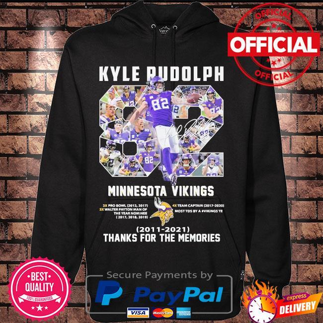 Kyle Rudolph Minnesota Vikings Thank you for the memories s Hoodie black