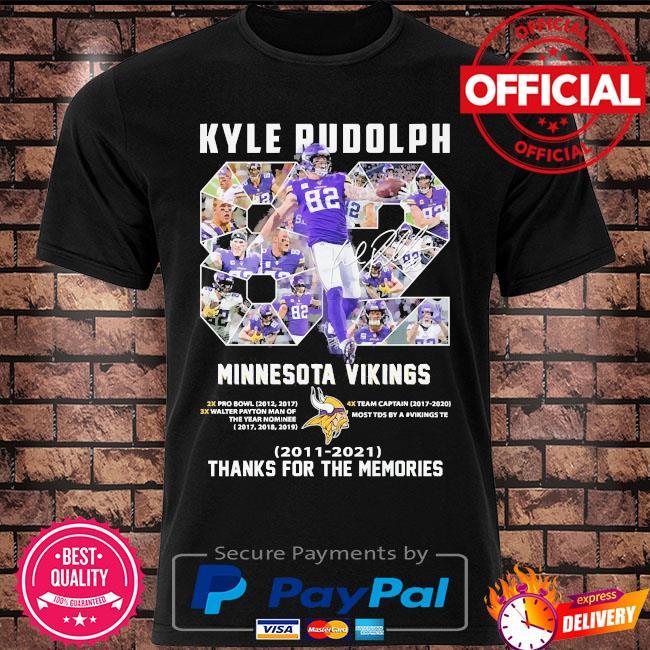 Kyle Rudolph Minnesota Vikings Thank you for the memories shirt
