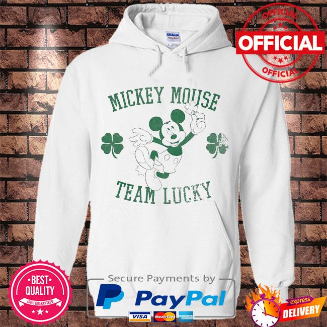 Mickey Mouse team lucky st patrick's day s Hoodie white