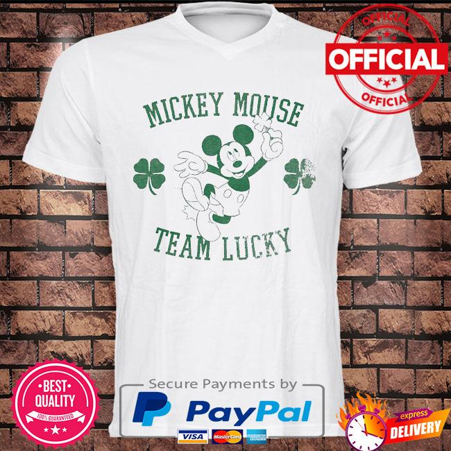 Mickey Mouse team lucky st patrick's day shirt