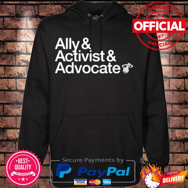 Official Ally and activist and advocate s Hoodie black
