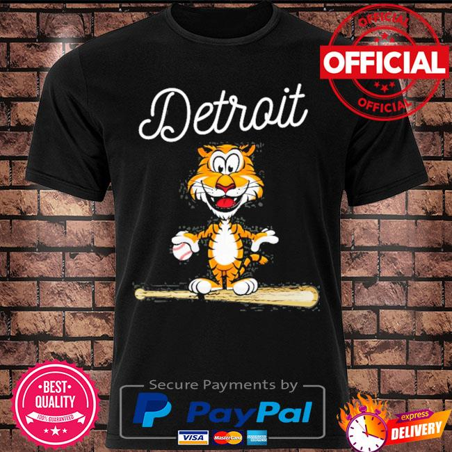 Official Baseball distressed tiger mascot shirt