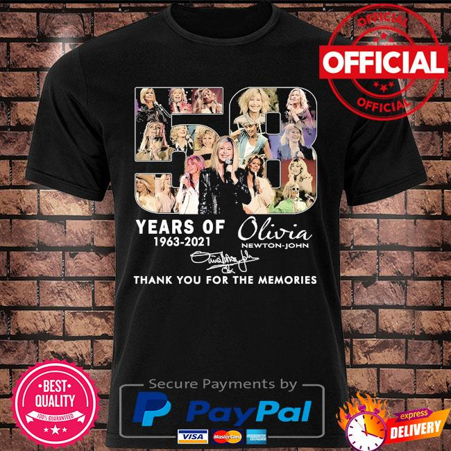 58 years Olivia thank you for the memories signature shirt