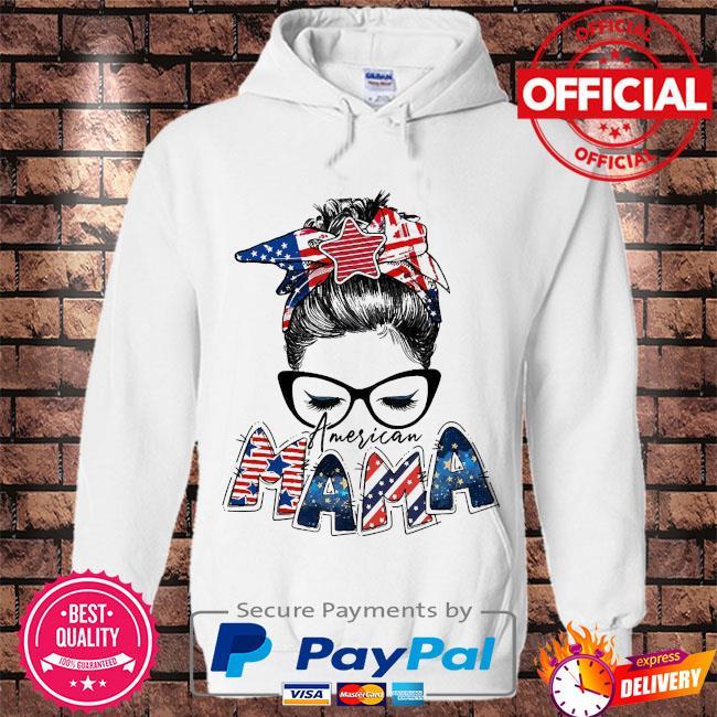 American Mama s Hoodie white