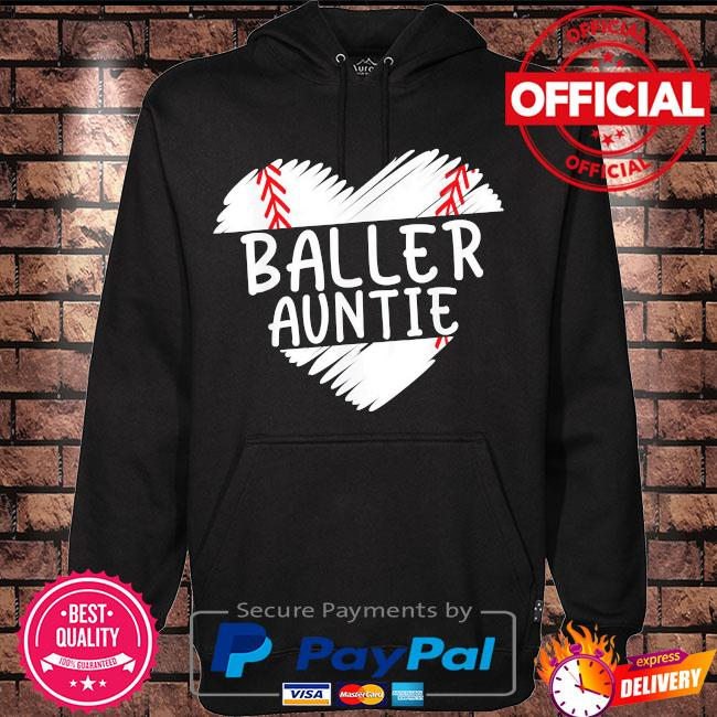 Aunt baseball baller auntie s Hoodie black