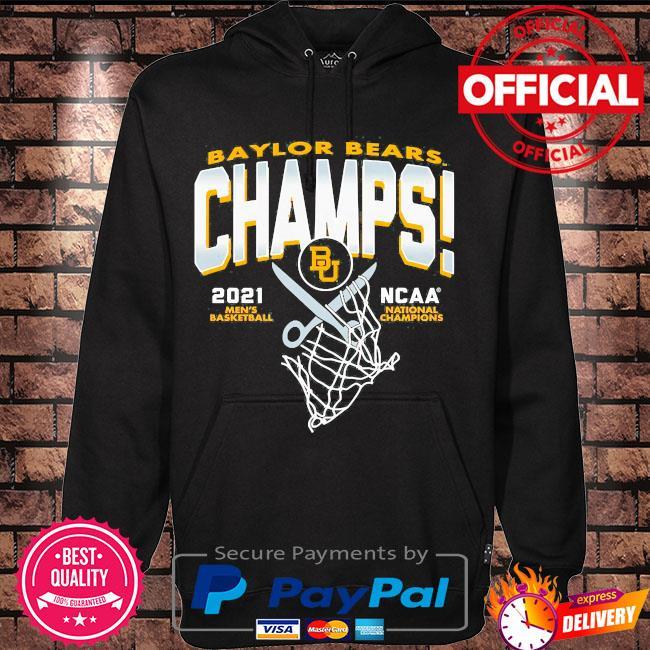 Baylor bears blue 84 youth 2021 ncaa men's basketball national champions s Hoodie black