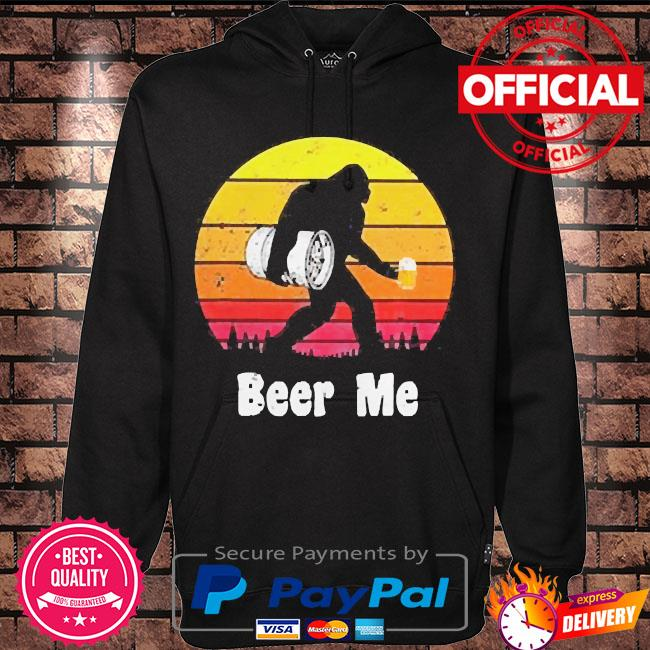 Bigfoot beer me vintage s Hoodie black