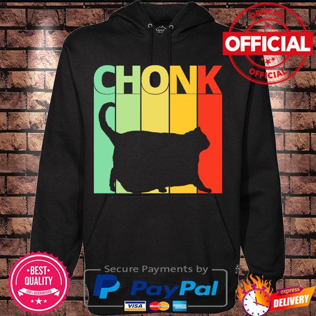 Black Cat Chonk vintage s Hoodie black