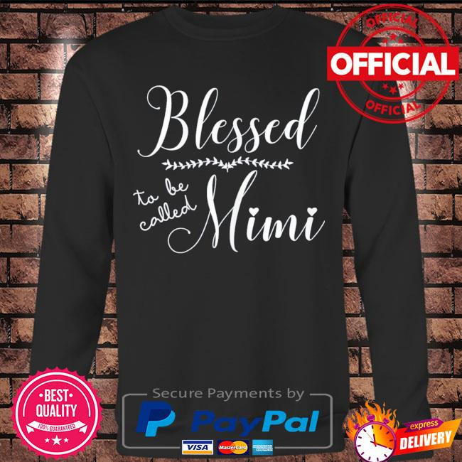Blessed to be called mimi gift for grandma mother's day s Long sleeve black