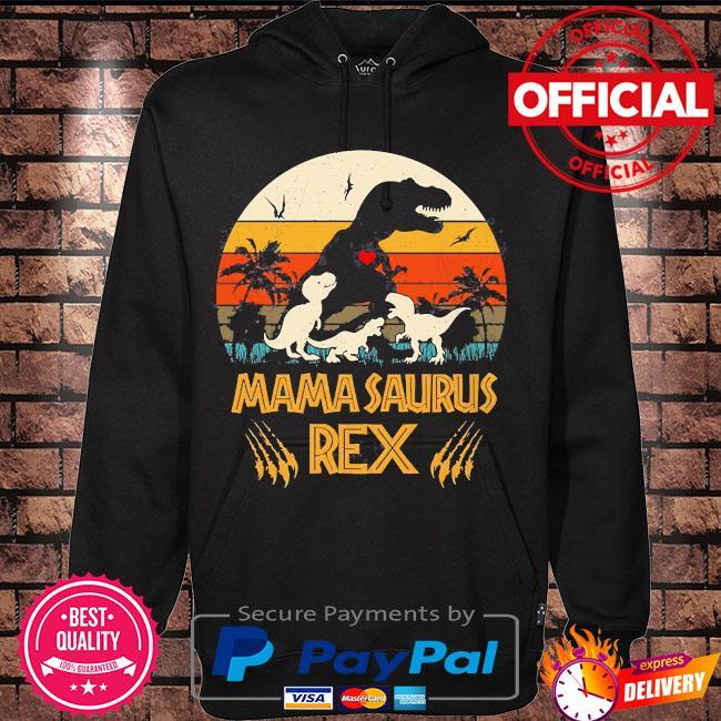 Dinosaur mamasaurus rex vintage s Hoodie black