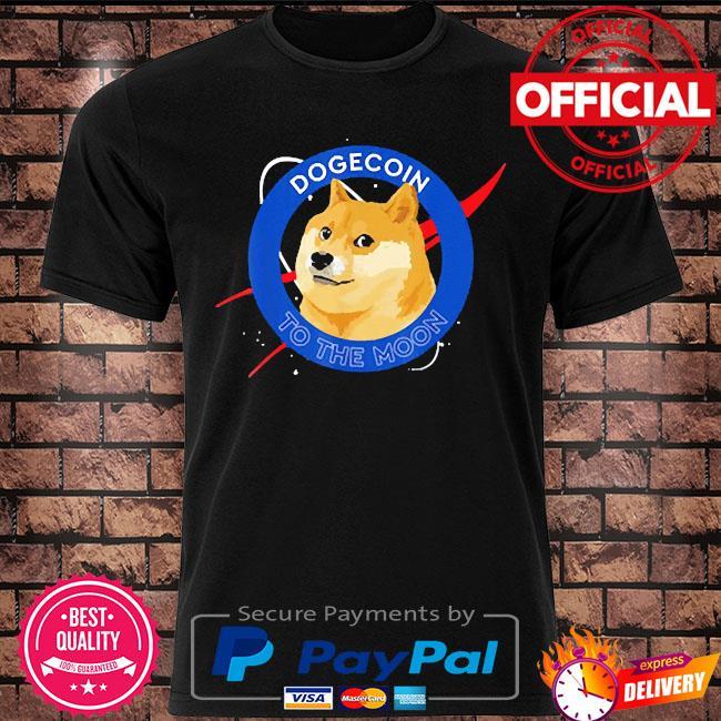 Dogecoin to the moon crypto meme shirt