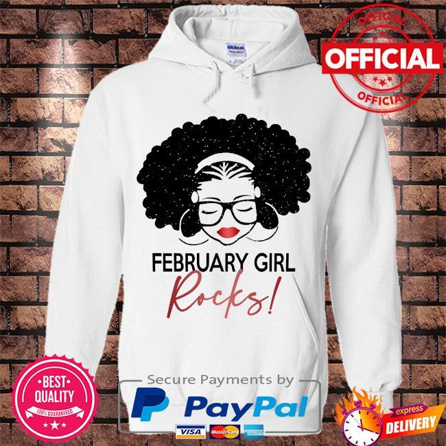 February Girl Rocks s Hoodie white