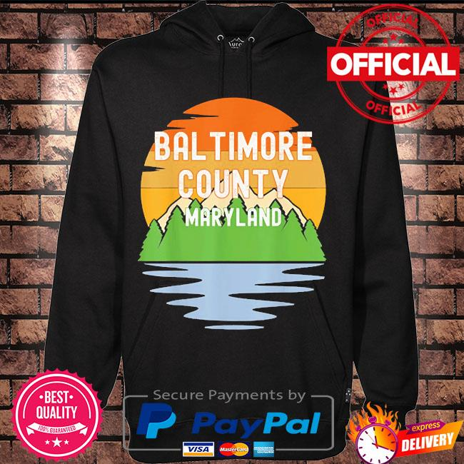 From baltimore county maryland vintage sunset s Hoodie black