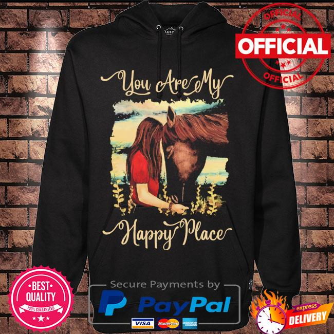 Girl kisss Horse you are my happy place s Hoodie black