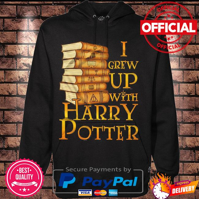 Harry potter I grew up with harry potter s Hoodie black