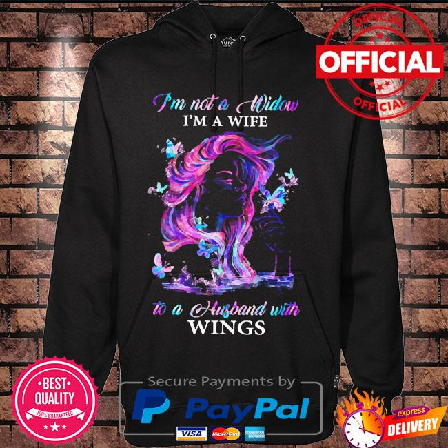 I'm not a window I'm a wife to a husband with wings s Hoodie black