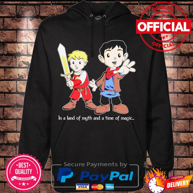 In a land of myth and a time of magic merlin s Hoodie black