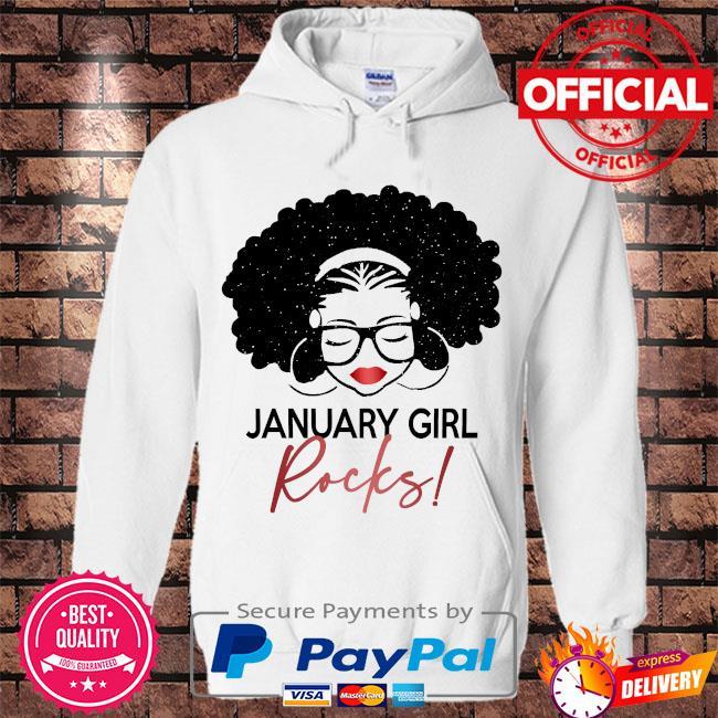 January Girl Rocks s Hoodie white