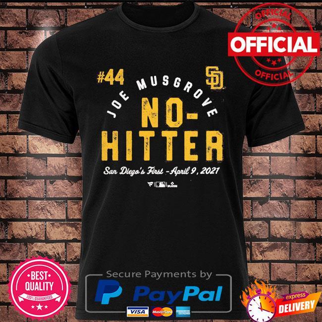 Joe musgrove san diego padres fanatics branded 2021 no-hitter shirt