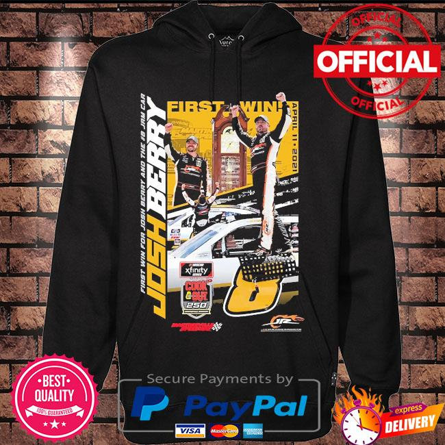Josh berry jr motorsports official team apparel 2021 nascar xfinity series cook out 250 race winner s Hoodie black