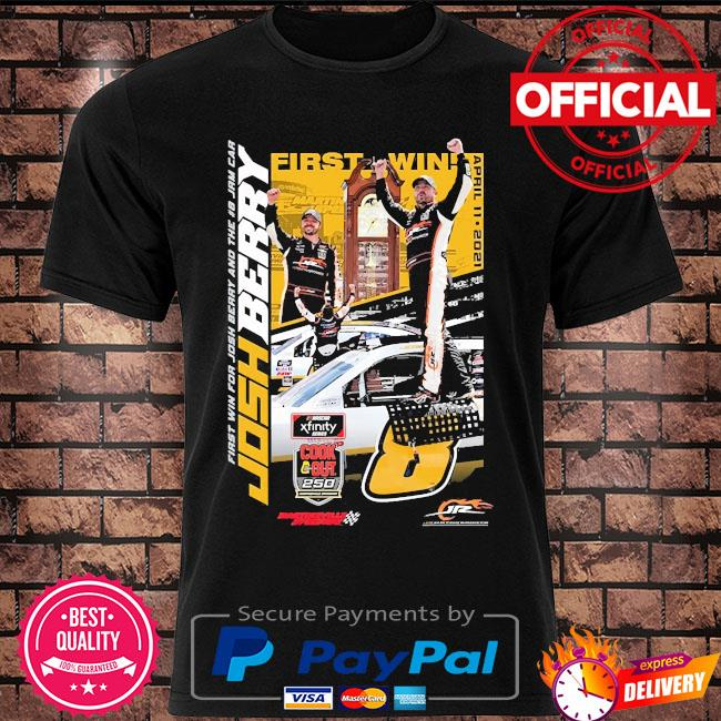 Josh berry jr motorsports official team apparel 2021 nascar xfinity series cook out 250 race winner shirt
