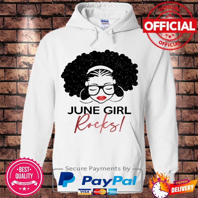 June Girl Rocks s Hoodie white