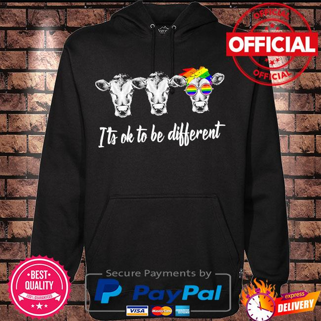 LGBT Cows it's ok to be different s Hoodie black