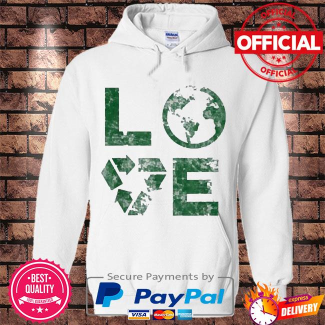 Love earth day 90s vintage recycling kids or teacher s Hoodie white