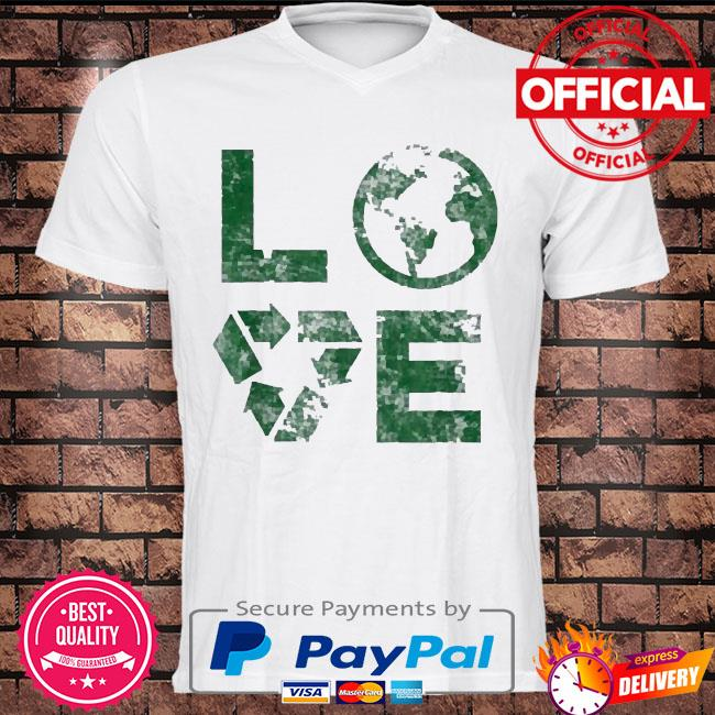 Love earth day 90s vintage recycling kids or teacher shirt