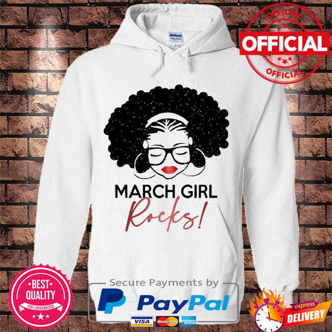 March Girl Rocks s Hoodie white