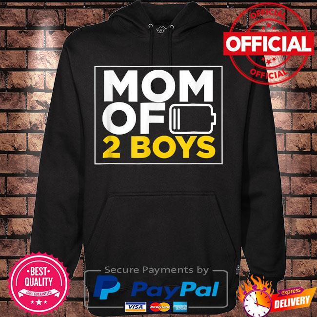 Mom of 2 boys s Hoodie black