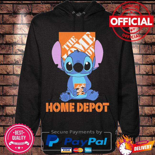 Official Baby stitch hug Home Depot 2021 s Hoodie black