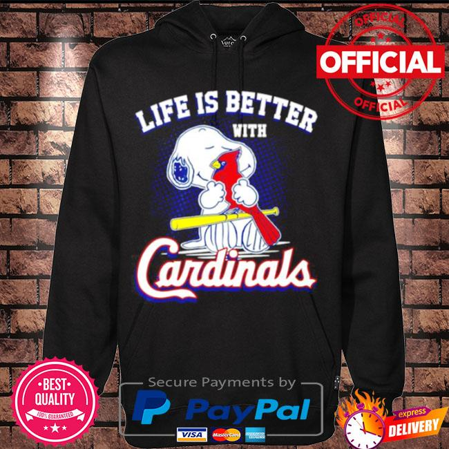 Official Snoopy life is better with st louis cardinals s Hoodie black