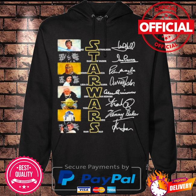 Official Star wars characters signature s Hoodie black
