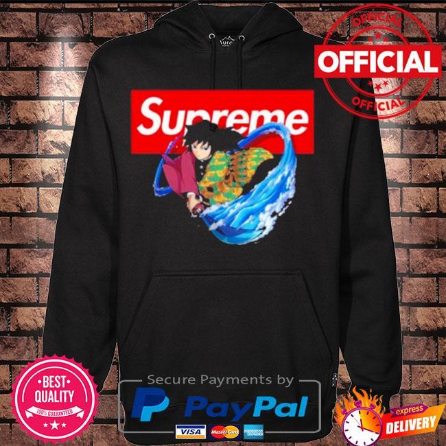 Official Supreme giyuu s Hoodie black