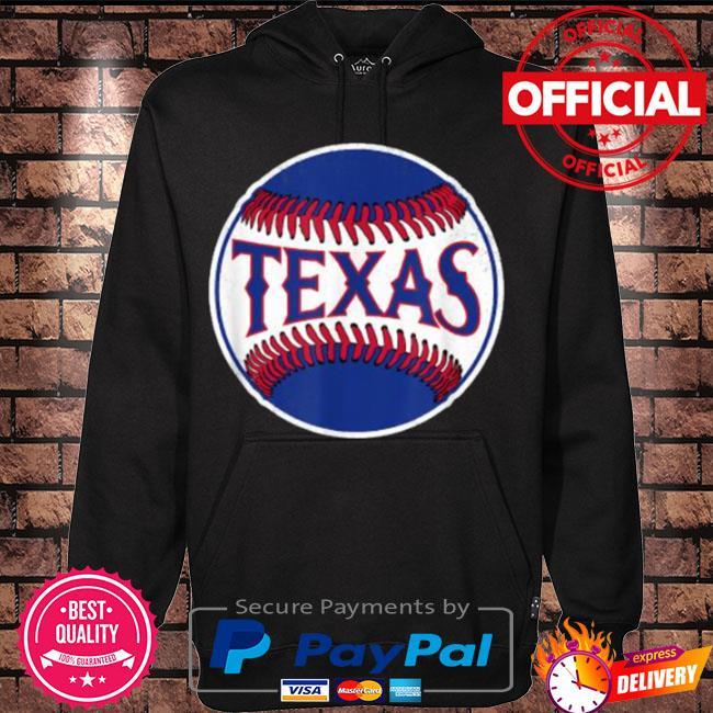 Official Texas baseball tx vintage s Hoodie black