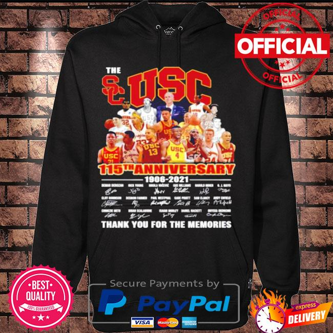 Official The usc trojans men's basketball 115th anniversary 1906 2021 thank you for the memories s Hoodie black