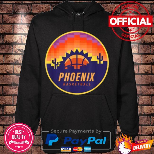 Official The valley pixel sun rise phoenix arizona basketball s Hoodie black