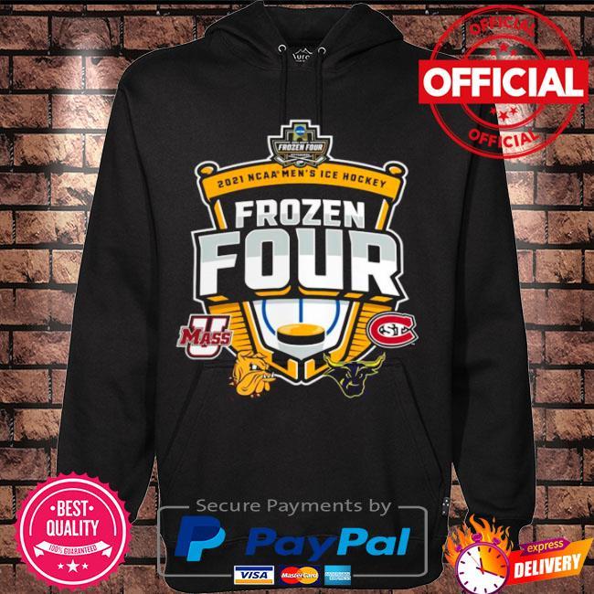 Official Umass minutemen vs st cloud state 2021 ncaa men's ice hockey frozen four s Hoodie black