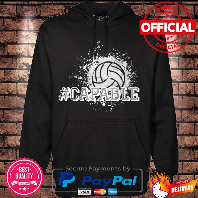 Official Volleyball #capable s Hoodie black